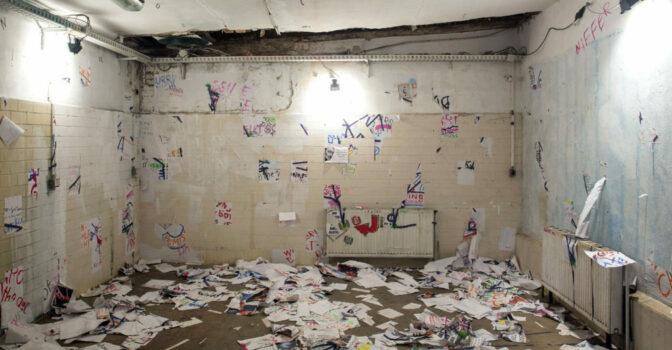 """Jan Thau / Freizeitgruppe Gestaltung """"Contentkill"""" Aktionskunst - Zwischenstand / @IBUg 2015 / Plauen"""