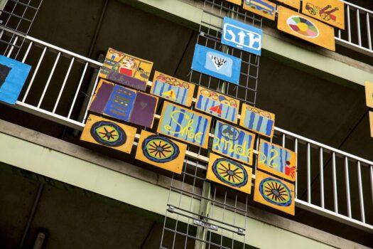 Farbpunkt Meerane Lindenschule 2016 Oststraße Parkhaus