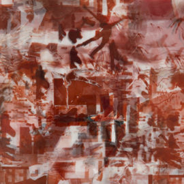 """Jan Thau """"dropping B dropping R dropping B dropping R .... """" Collage / Mischtechnick - 82 x 69 cm - 2016"""